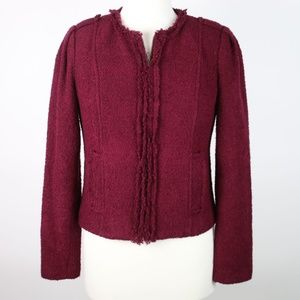 CAbi Britt Boucle Wool Blend Zip Jacket 4